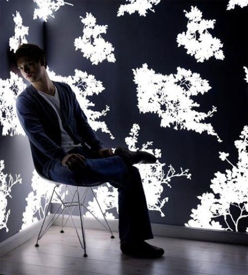 Als ob aus dem Jenseits hierher : Licht ausstrahlende Tapete von Jonas Samson - #Lampen