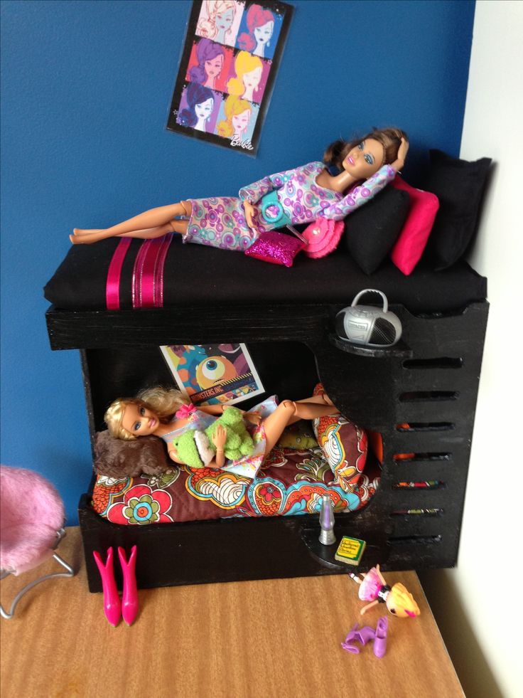 Barbie Bunk Bed Made By Me Brielle S Barbie Doll House