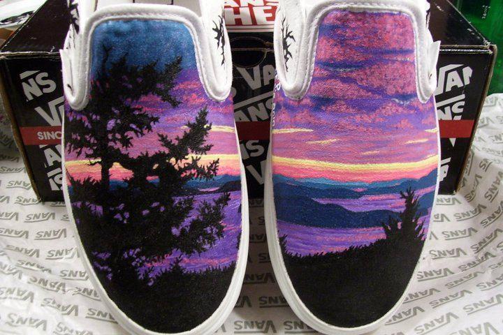S.T.E.P. Custom Hand Painted Shoes. $120.00, via Etsy.