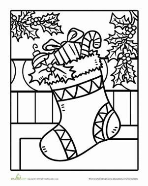 christmas stocking coloring page the holidays pinterest christmas christmas colors and coloring pages