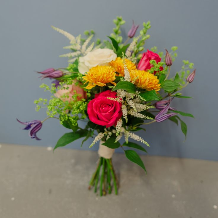 Bridal Bouquet Example 2 - colourful and vibrant
