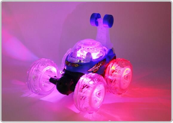 2015 European and the American popular Coloured lights Control Racing Toy Car Stunt Car Electric RC Cars kid