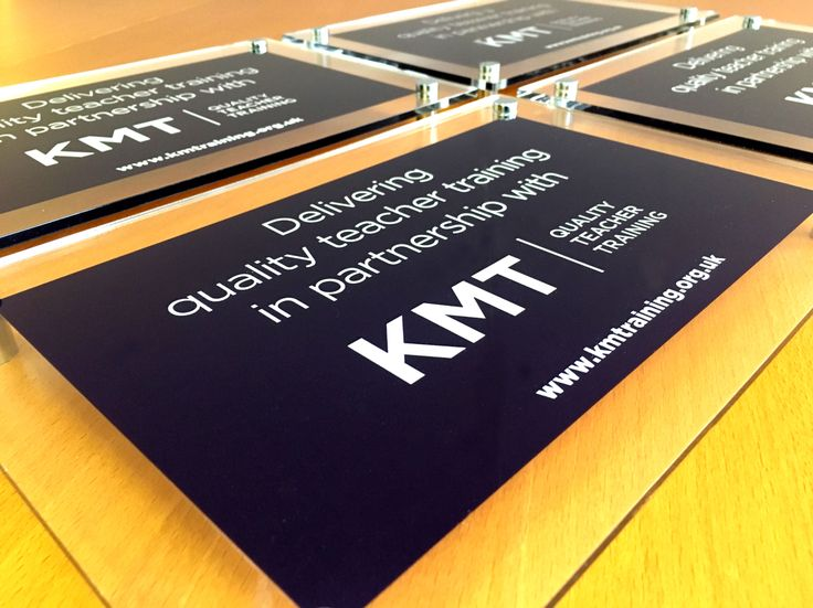 Polished acrylic partnership plaques for @kentmedway teacher training schools. #design #signs
