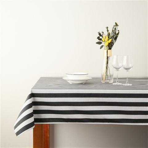 2000x1300 シェッド テーブルクロス ボールド ブラックxホワイト(ブラックxホワイト) Francfranc(フランフラン)公式サイト|家具、インテリア雑貨、通販