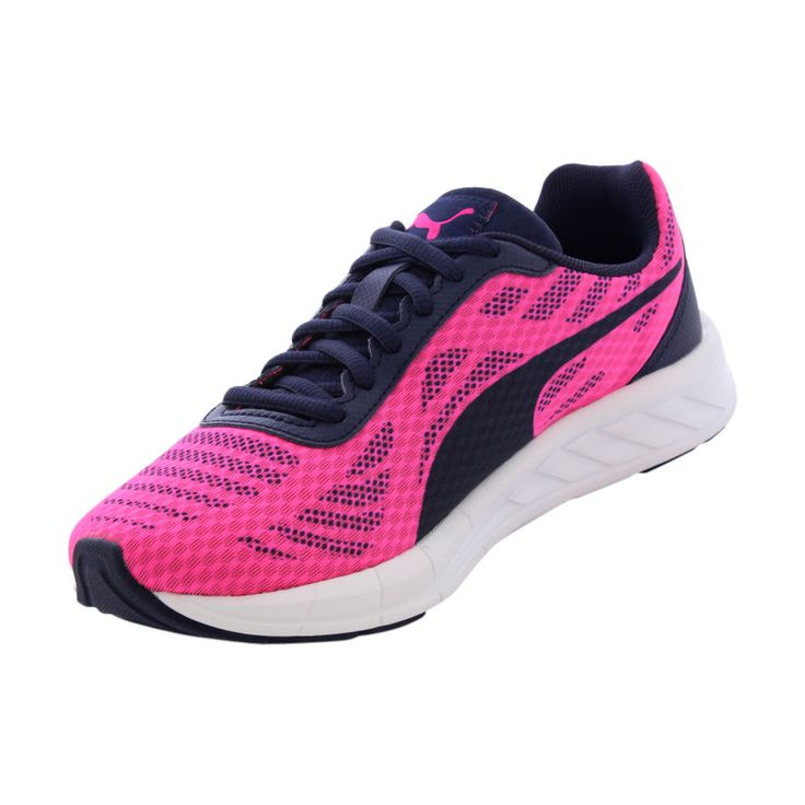 Puma - Girl's Meteor Jr Cushioned Running Shoe (Big Kid) - Pink