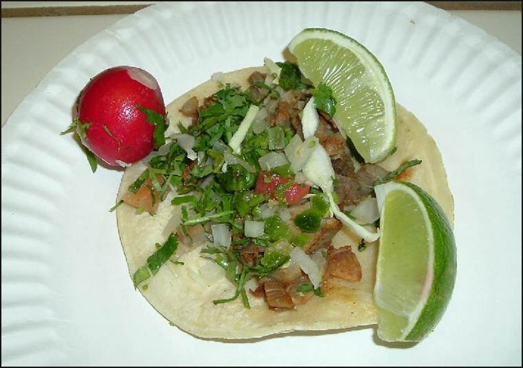 Tacos de Tripa.  They are wonderful. I am going to try to make some at home.