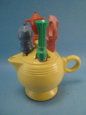Fiesta fiestaware tea pot 5 piece cheese spreader canape for Canape spreaders