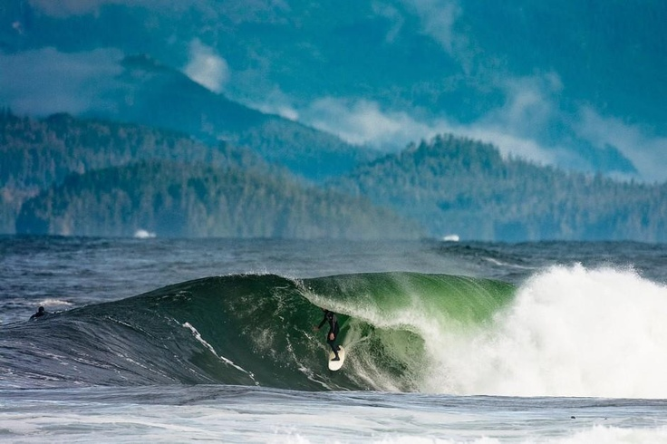 Canadian cold water surfing