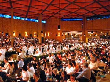 I camped in Taize, France with about 20,000 other people from all around the world. You are encouraged to meditate and have hours of silence and enjoy the calmness and quietness of the day and moment. It remains the most spiritually enlightening moment of my life.