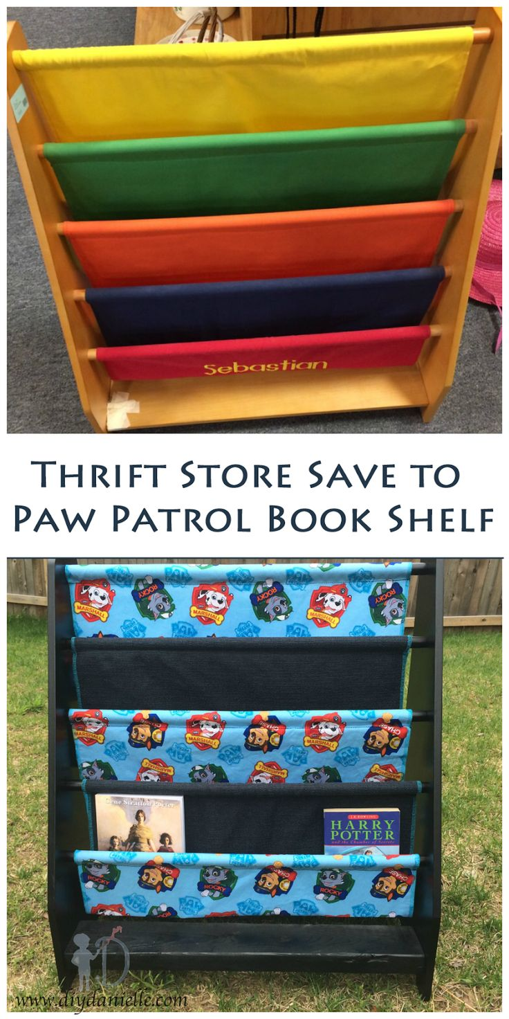 Thrift Store Save to Paw Patrol Book Shelf