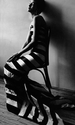 Maxime de la Falaise 1950 in a dress by Paquin (Vogue)