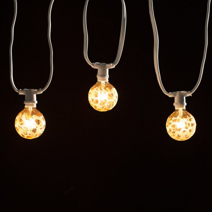 Bulbrite STRING15/E12 25 ft. Outdoor String Light with Incandescent Bulbs - 8100