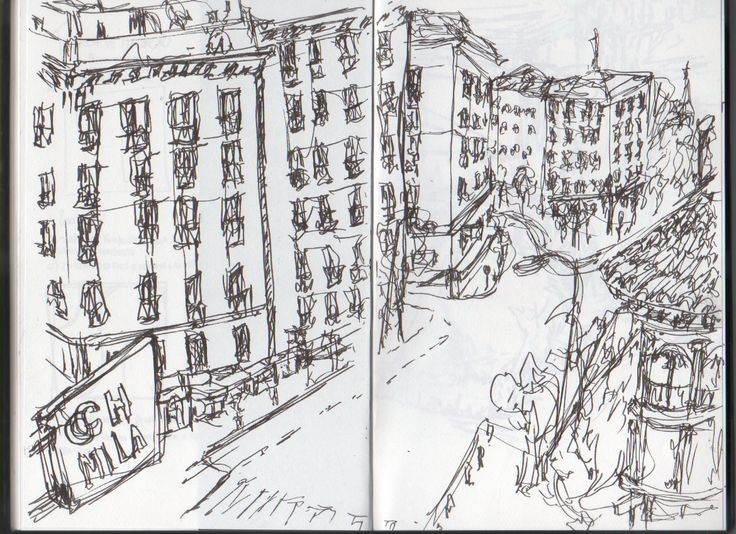 A street of Madrid #madrid #streets #sketch