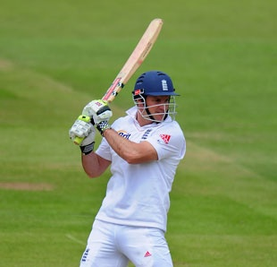 Andrew Strauss started solidly in England's first innings at Lord's