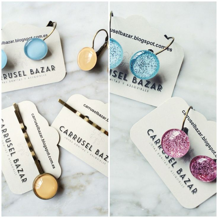 Earrings and bobby pins. 2016 Spring Collection available at www.carruselbazar.bigcartel.com  http://carruselbazar.bigcartel.com/product/spring-2016