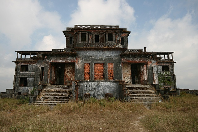 Bokor Hill Station Ghost Town in Preah Monivong National Park, Kampot, Cambodia
