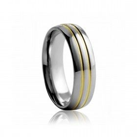 Tungsten Ring duo-colour mens wedding ring | Diamond Corporation South Africa