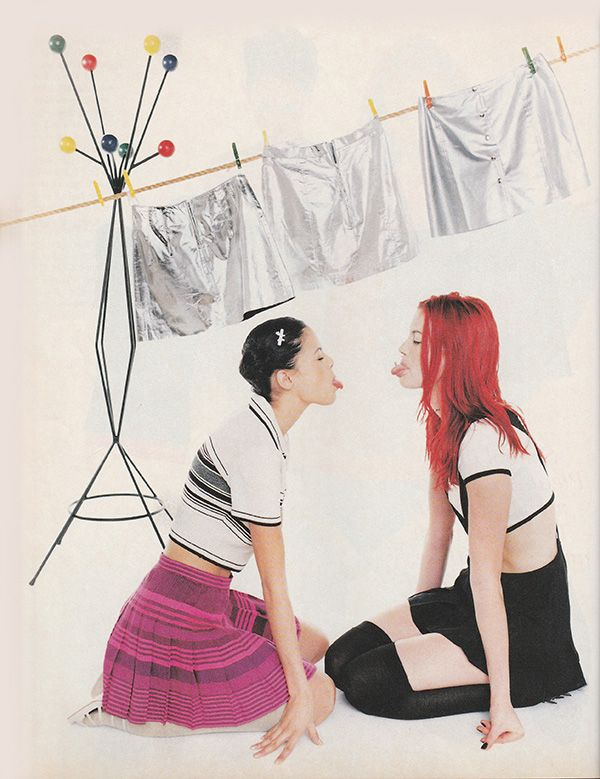 'Spirited shades of neon and silver, make it all pleasingly punk' - (1994) #INFashion #grungegirl