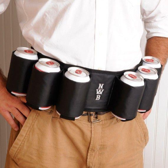 Personalized Joe Sixpack Beer Belt// Haha a funny gift idea//