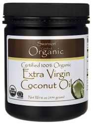 Should pin this to Spoiled Pets! Swanson Organic Certified 100% Organic Extra Virgin Coconut Oil 16 oz (454 grams) Solid Oil - Swanson Health Products