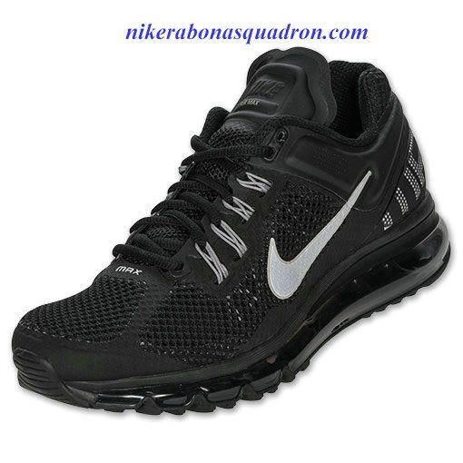 Nike Air Max 2013 Womens Black Sport Grey Reflect Silver 555363 001