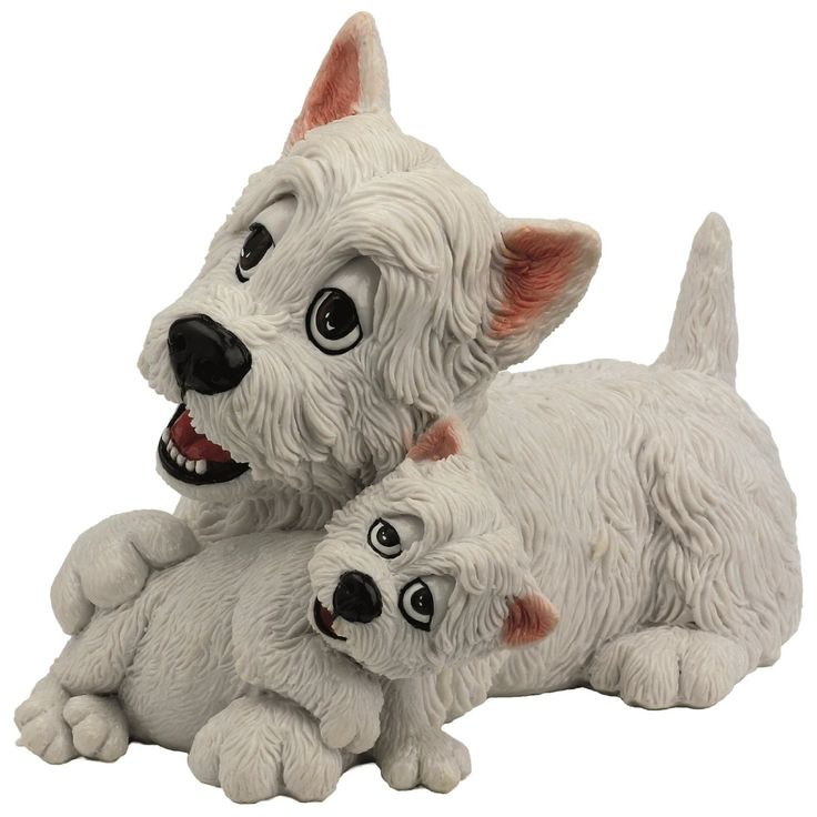 Pets With Personality - Westie & Pup Available @ Li'l Treasures $68. (International Shipping available)
