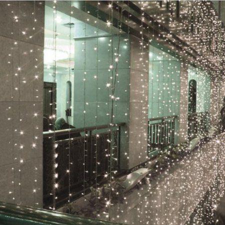 fuloon 10 3m 1000 leds guirlande lumineux led rideau lumineux avec 8 modes diffrents - Tenture Mariage Lumineuse