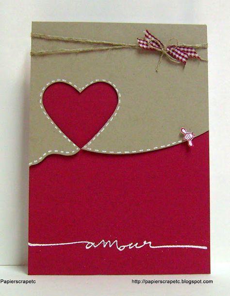 papierscrapetc: Une carte pour la St Valentin...encore, avec des produits Stampin'up.