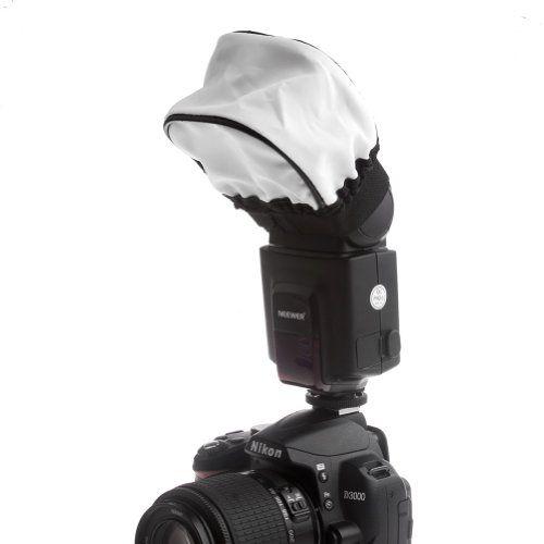 $4.94   Neewer® Pro (Pro Version of Neewer® Product) Universal Soft Mini Flash Bounce Diffuser Cap for On Camera or Off Camera Flash Gun, for Canon 430EX II, 580EX II, 600EX-RT, Nikon SB600 SB800 SB900,SB910, Neewer TT520, TT560, TT680, TT850, TT860, Youngnuo YN560, YN565, YN568, Vivita Flash, Sunpack, Sunpak, Nissin, Sigma, Sony, Pentax, Olympus, Panasonic Lumix Flashes with a Carrying CaseUniversal Flash Diffuser Neewer http://www.amazon.com/dp/B00JUPDH5Q/ref=cm_sw_r_pi_dp_4c-jvb08X2REA