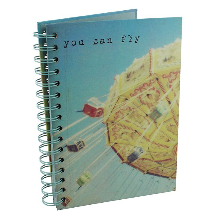 "Tri-Coastal Design Spiral A5 Notebook ""You Can Fly"": Amazon.co.uk: Kitchen & Home"