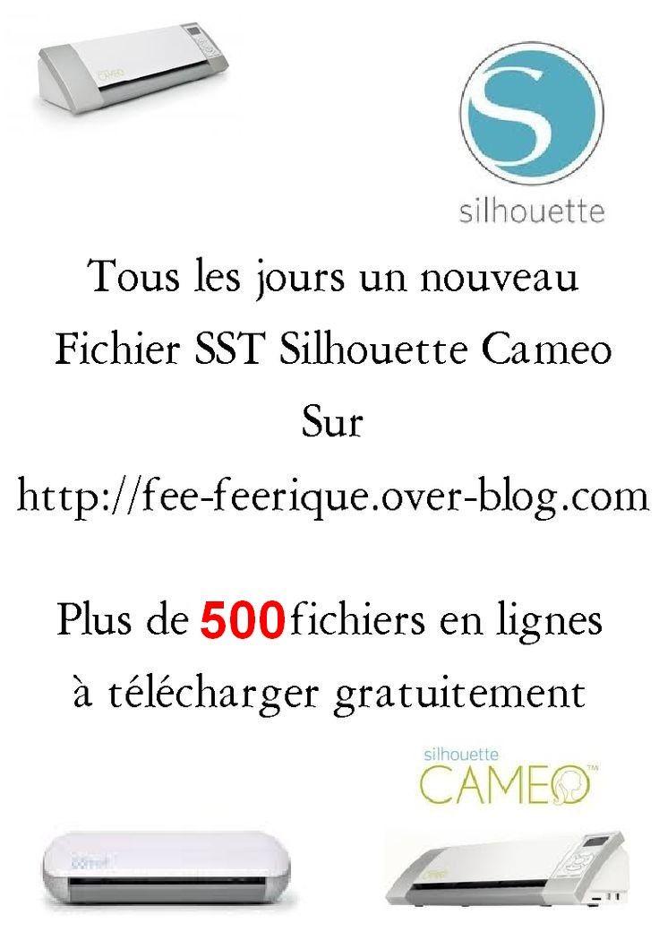 Sur mon blog http://fee-feerique.over-blog.com plus de 500 fichiers sst vectoriser pour silhouette studio disponible et gratuit ...