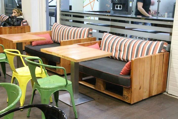 DIY Pallet Coffee and Food Shop Furniture | 99 Pallets