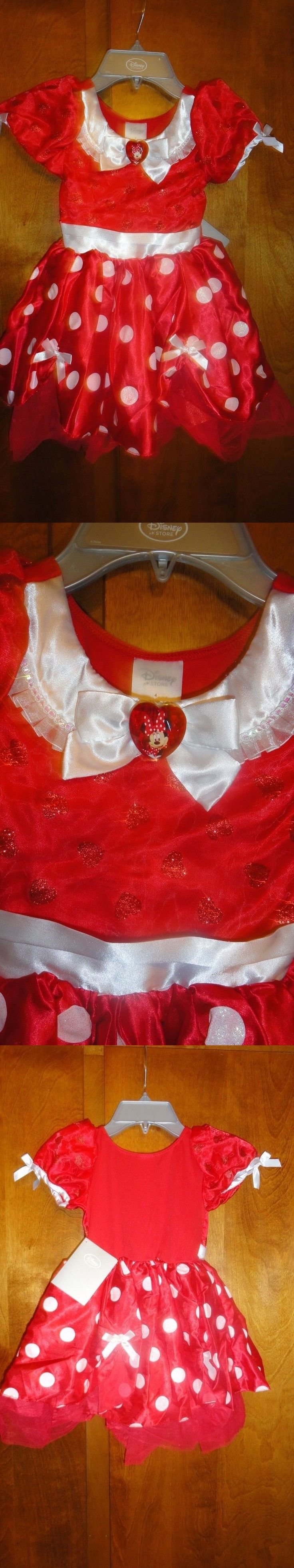 Halloween Costumes Kids: Size 4 Minnie Mouse Red Disney Store Costume Dress Nwt BUY IT NOW ONLY: $32.9