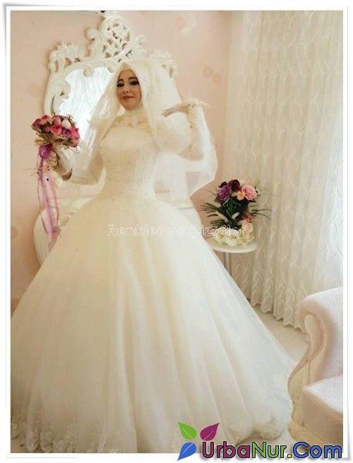 17ecd0b627464 2016-Tesettur-Gelinlik-Modelleri-1   Armine in 2019   Hijab wedding ...