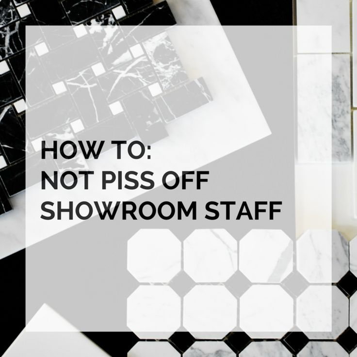 HOW TO KEEP THE SHOWROOM STAFF IN YOUR CORNER — BAUER&BALE DESIGN STUDIO BLOG