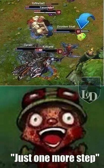 Being a teemo main... THIS IS MY FAVOIROTE!!!!!!!!
