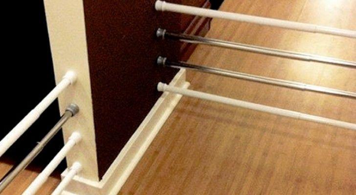 Deze stangen die worden gebruikt om het douchegordijn aan op te hangen kunnen veel meer dan je denkt: je kan er kasten mee ordenen of leuke speelhoeken voor kinderen mee maken.Ze zijn heel fijn in het…