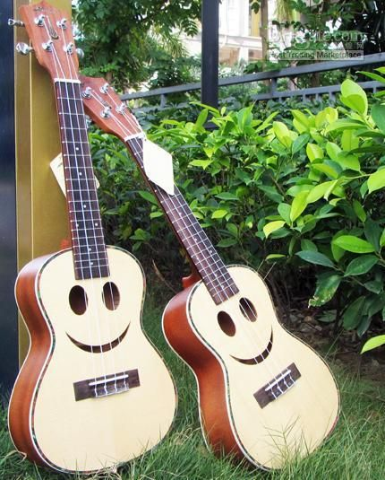 Wholesale cheap ukulele online, brand - Find best hanknn ukulele smile solid spruce top with ablone binding christmas ukulele at discount prices from Chinese ukulele supplier - allguitar on DHgate.com.