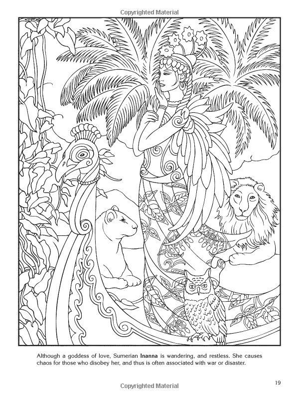 Goddess Coloring Pages pagan