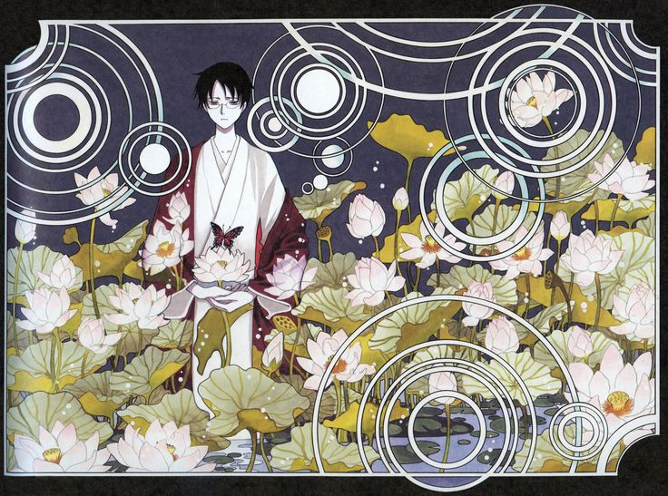 CLAMP, xxxHOLiC, Watanuki Kimihiro, Wading, Haori, Water Droplets