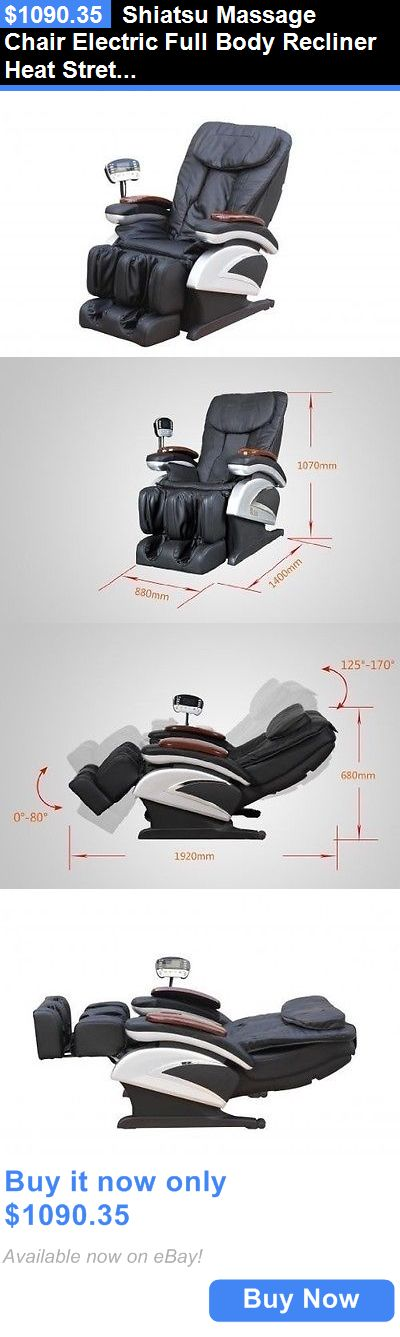 Electric Massage Chairs: Shiatsu Massage Chair Electric Full Body Recliner Heat Stretched Foot Rest Relax BUY IT NOW ONLY: $1090.35