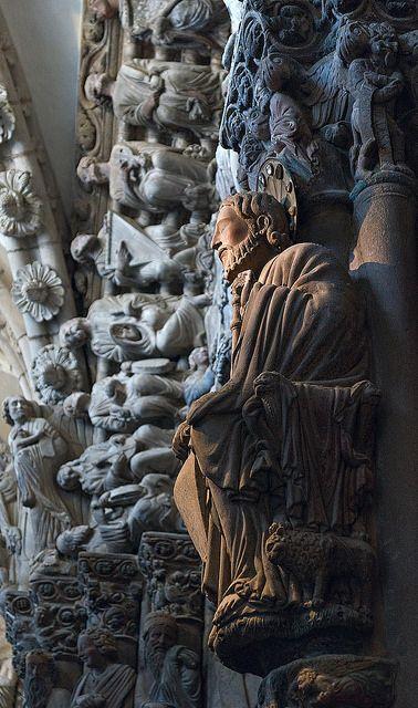 Portico de la Gloria, Spain Catedral de Santiago de Compostela