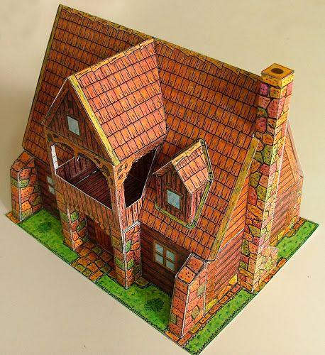 CASITA DE PAPEL: dollhouse paper: casas y edificios, house by Zoltan Somodi