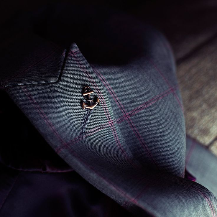 PIETER PETROS || MIAMI I || An Anchor symbolizes strength & every #PPsuit has an anchor lapel pin to remind you of the strength within. #Miami1