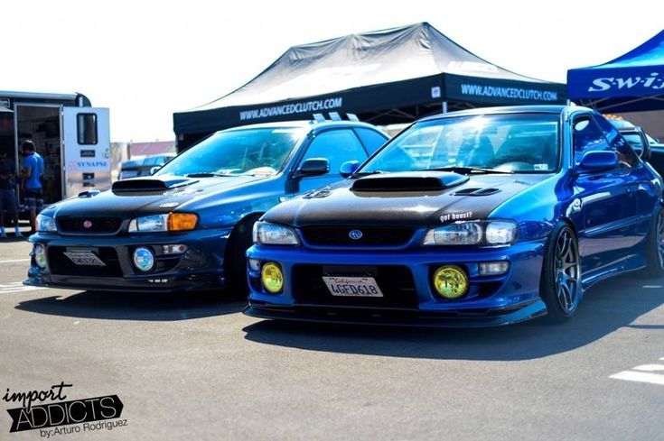 """Subaru Impreza """"RSTi"""" GC8 -- these are two awesome Impreza 2.5 RS's that two guys out in CA basically converted to STi's, which is why they're called an """"RSTi"""". Go watch the //Tuned video on Youtube. Sick cars."""