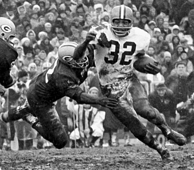 """James Nathaniel """"Jim"""" Brown was a 3 time NFL MVP and 3 time Pro Bowl ..."""