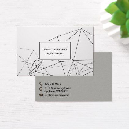 Modern Minimal Polygon Lines Business card - minimal gifts style template diy unique personalize design