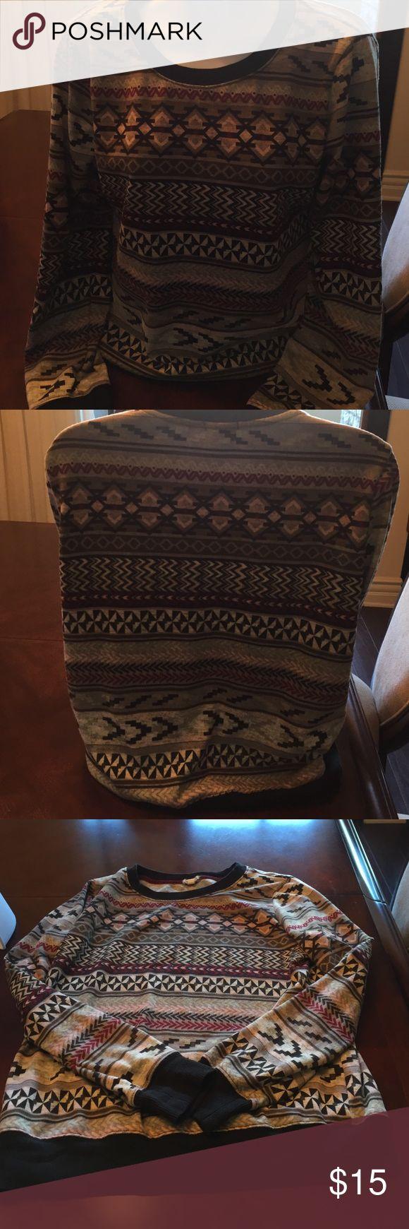 Cool Aztec long sleeve shirt. Size large juniors shirt Tops Tees - Long Sleeve