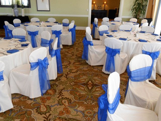 Royal Blue Organza Bows for Chair Covers in Los Angeles and Orange County   CA. 17 Best ideas about Chair Covers For Rent on Pinterest   Wedding
