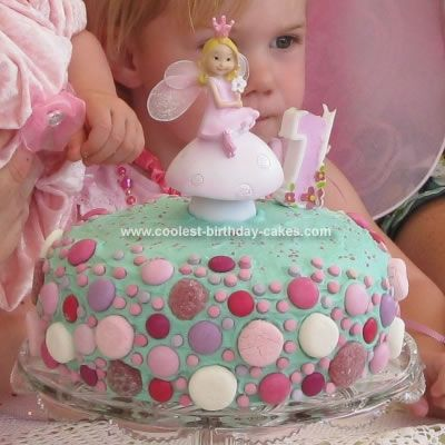Homemade Fairy Birthday Cake: I made this Fairy Birthday Cake for my baby girl's first birthday.  It was a light and fluffy banana cake recipe because she loves bananas.  I cooked it